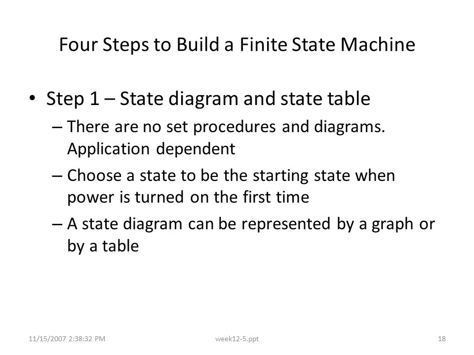 Four Steps to Build a Finite State Machine
