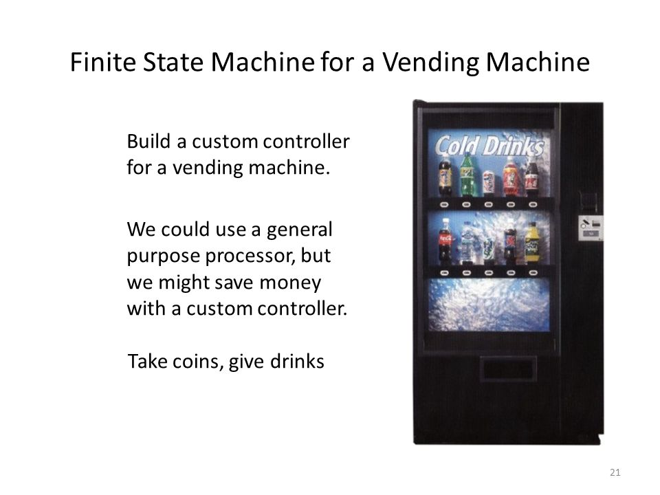 Finite State Machine for a Vending Machine