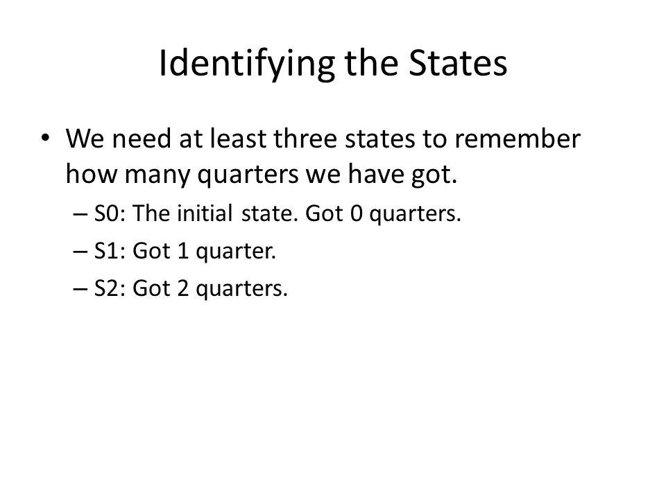 Identifying the States