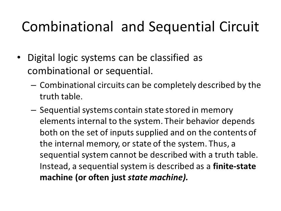 Combinational and Sequential Circuit