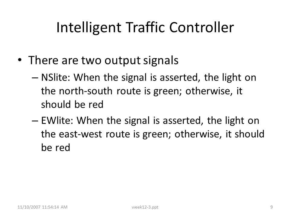 Intelligent Traffic Controller