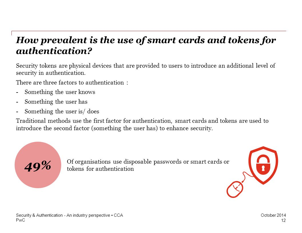 How prevalent is the use of smart cards and tokens for authentication