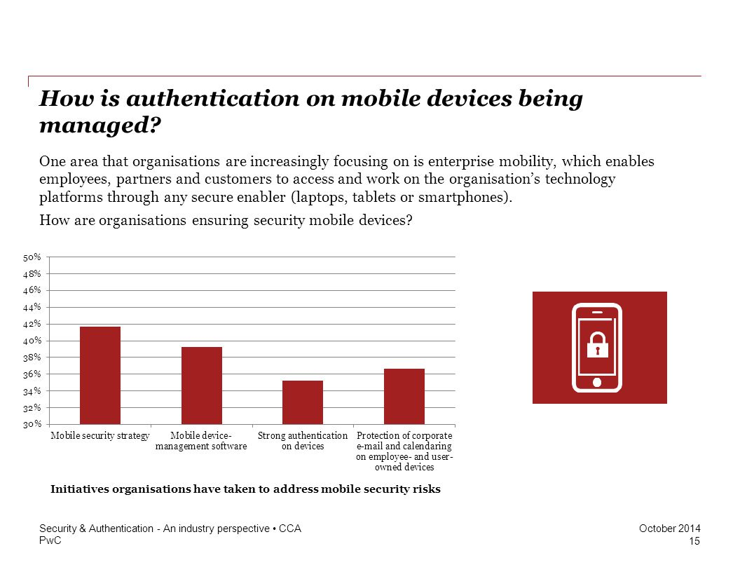 How is authentication on mobile devices being managed