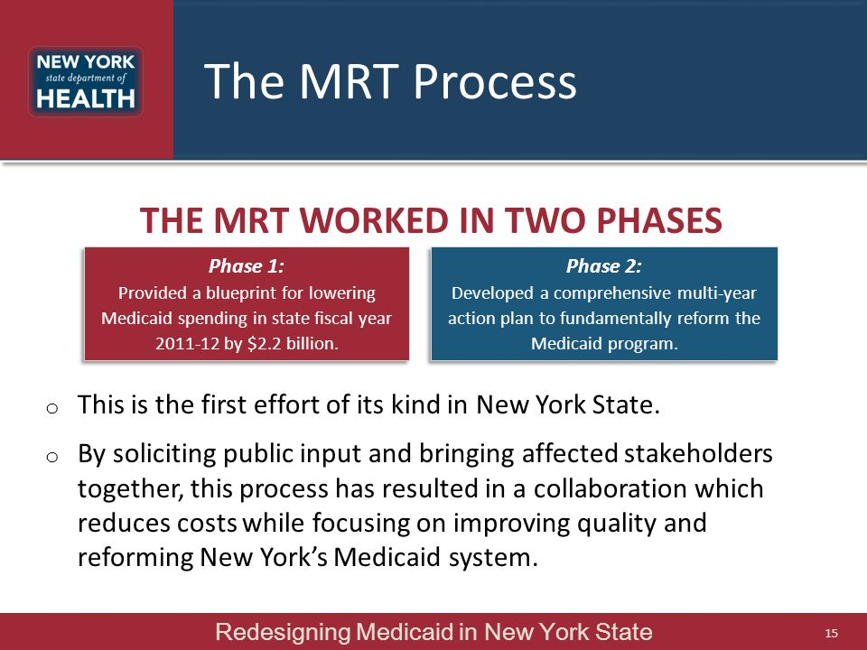 The MRT worked in two phases