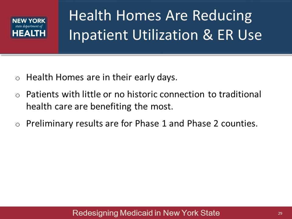 Health Homes Are Reducing Inpatient Utilization & ER Use