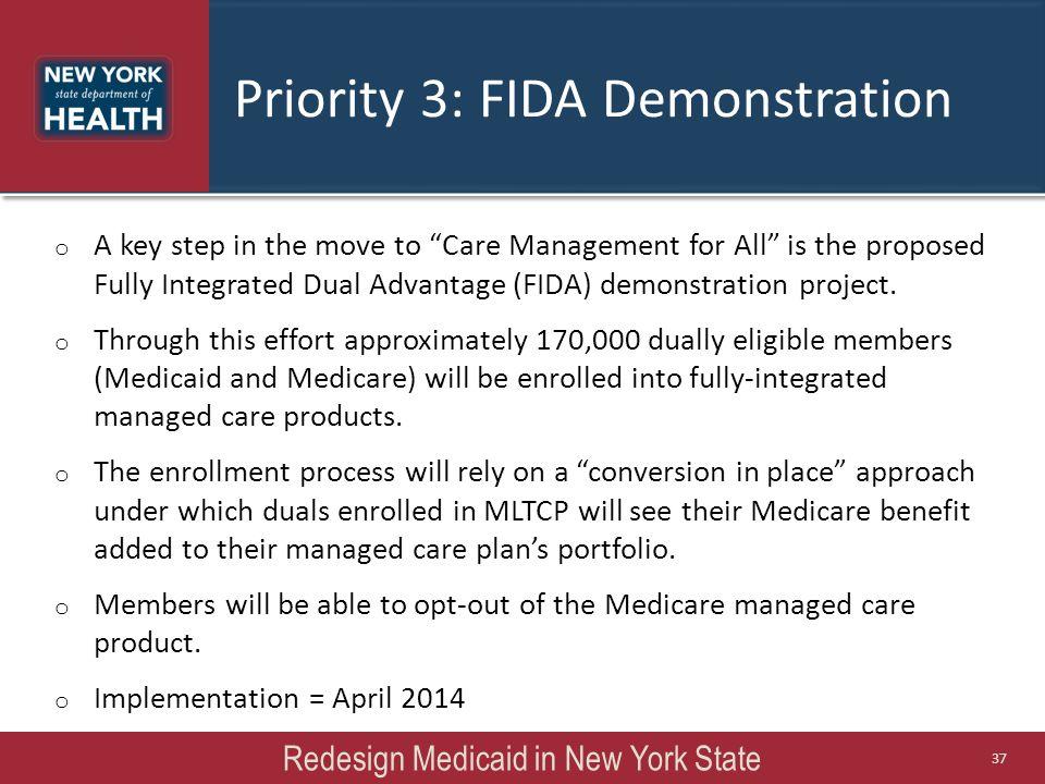 Priority 3: FIDA Demonstration