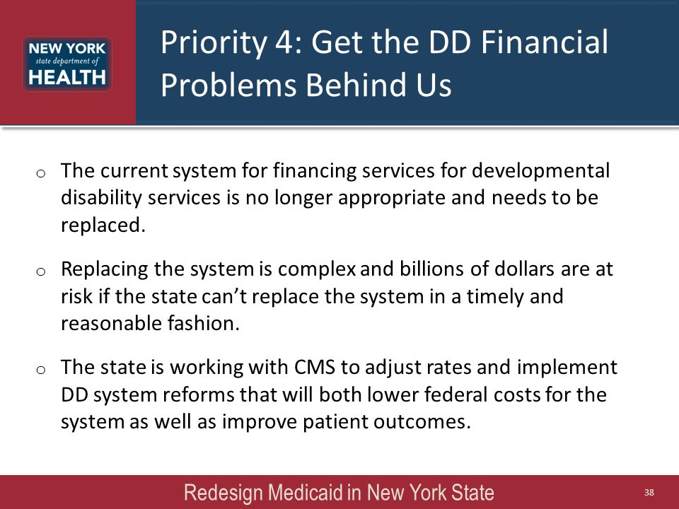 Priority 4: Get the DD Financial Problems Behind Us