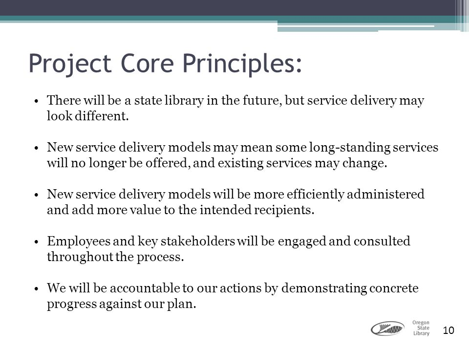 Project Core Principles: