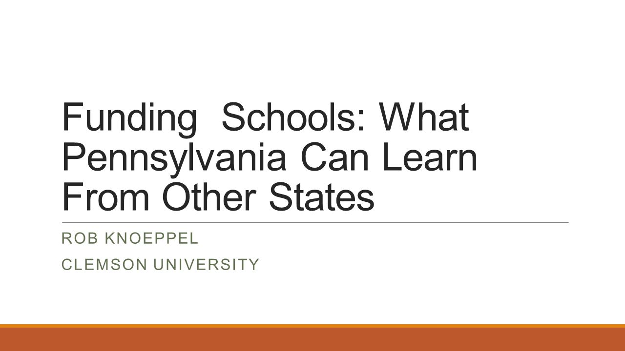 Funding Schools: What Pennsylvania Can Learn From Other States