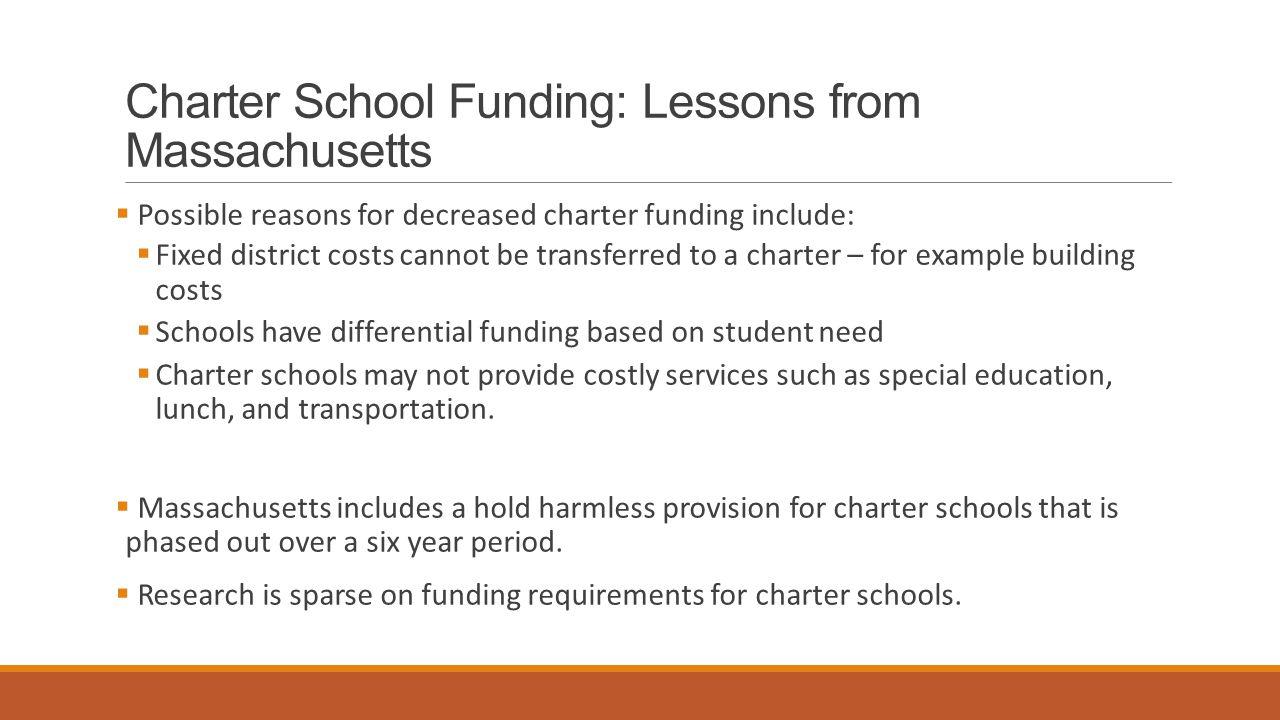 Charter School Funding: Lessons from Massachusetts