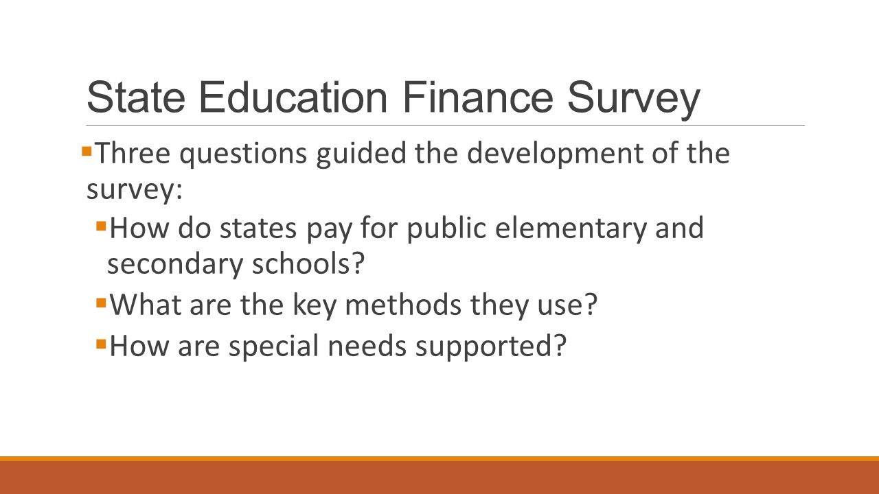State Education Finance Survey