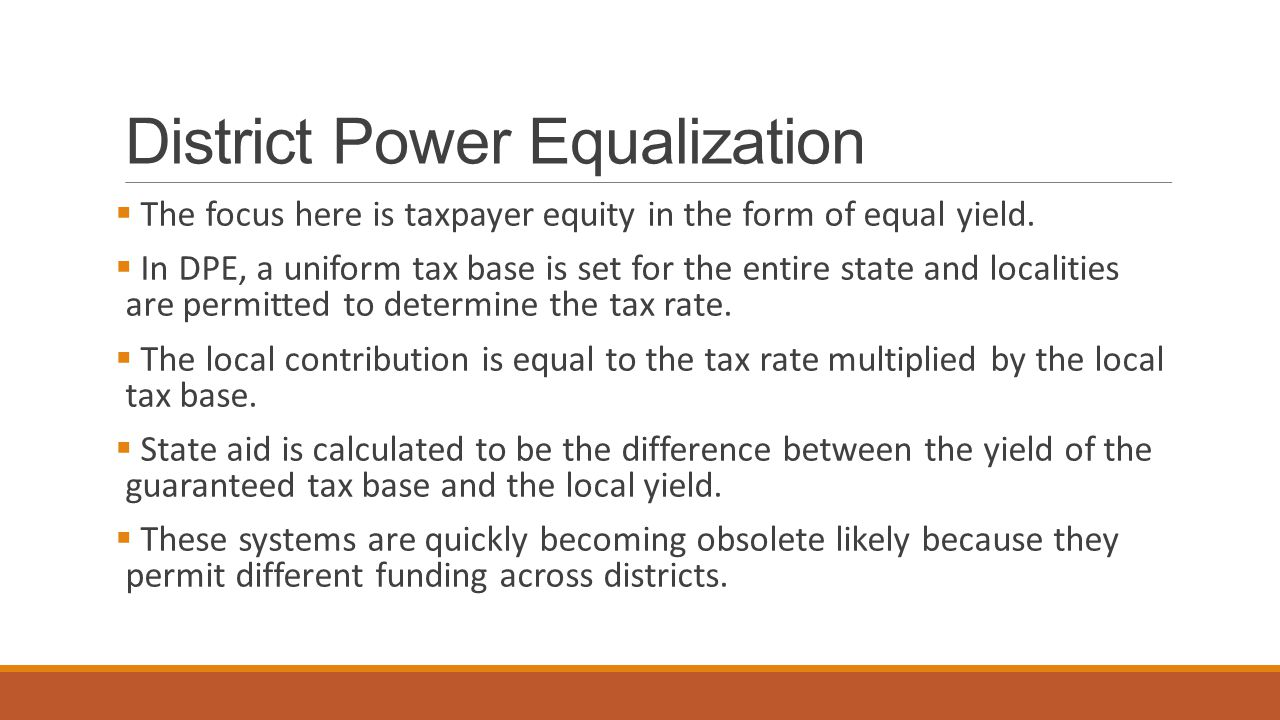 District Power Equalization