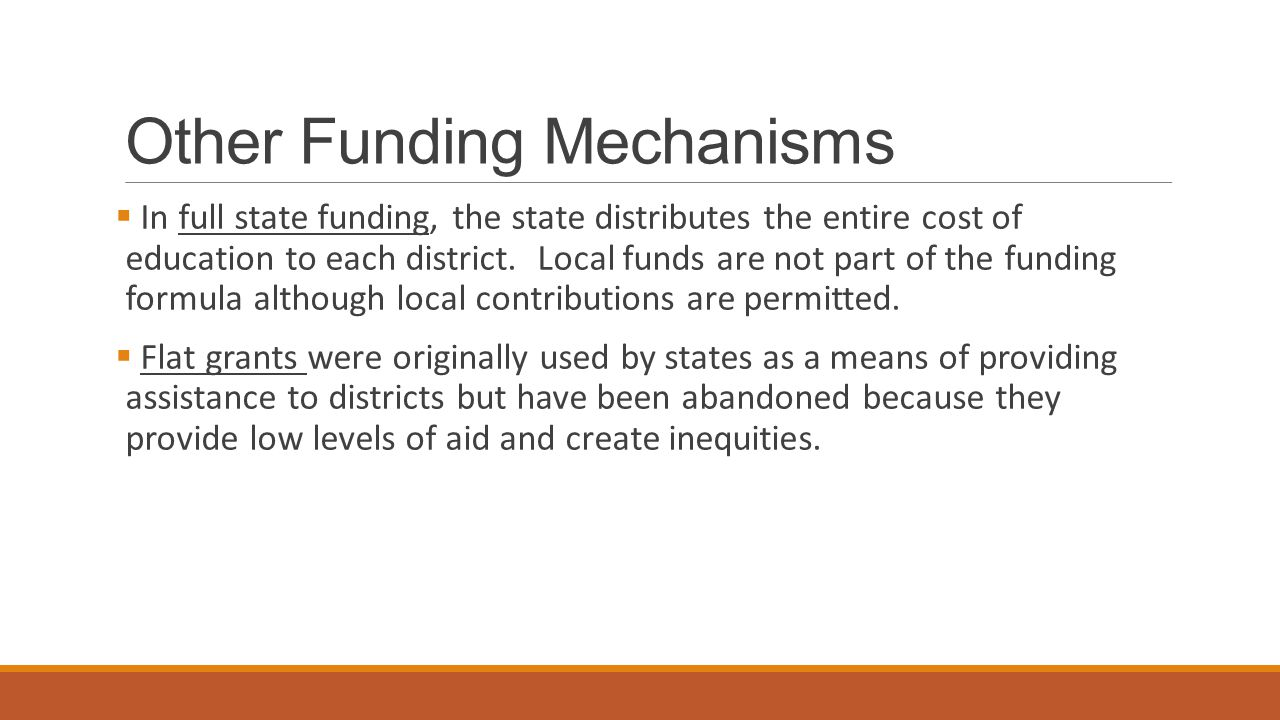 Other Funding Mechanisms