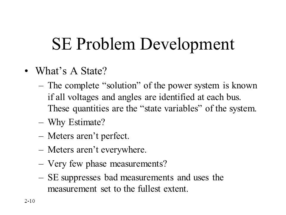 SE Problem Development