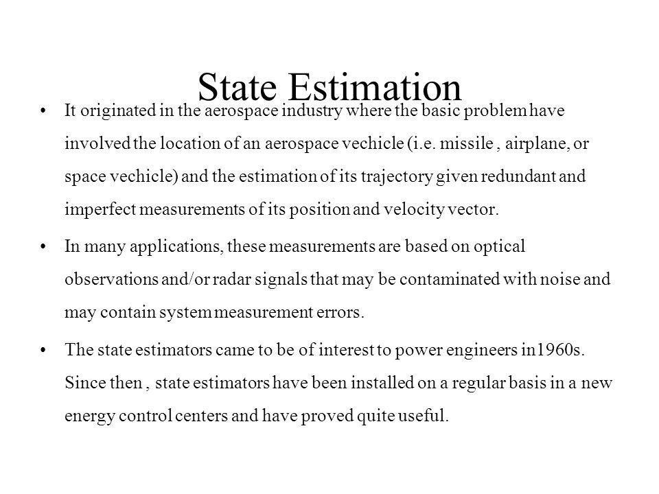 State Estimation