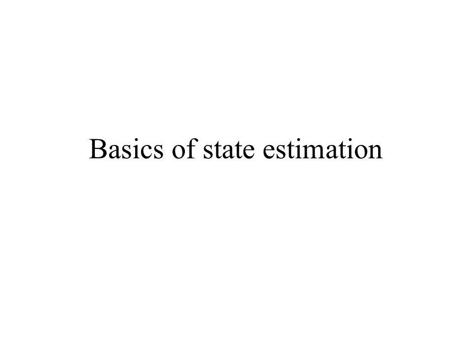 Basics of state estimation