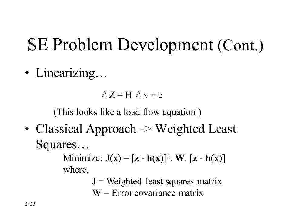 SE Problem Development (Cont.)
