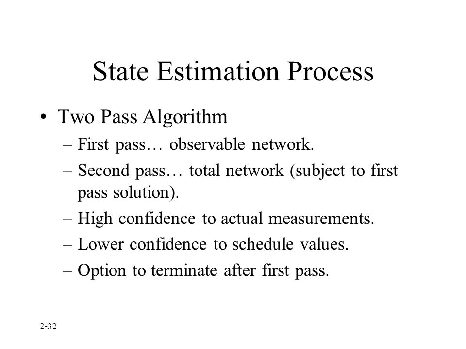 State Estimation Process