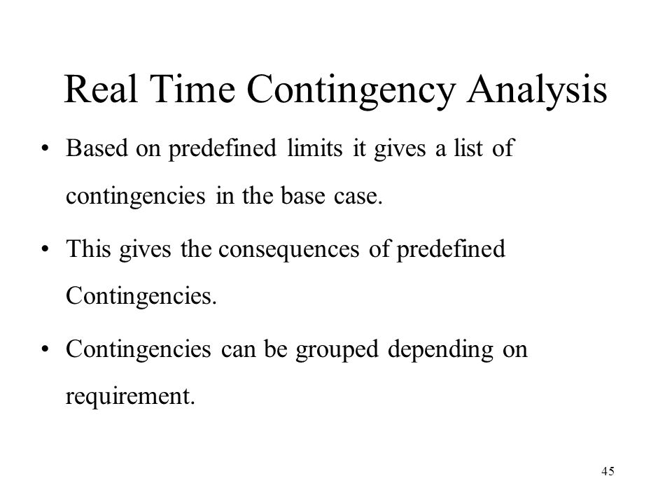 Real Time Contingency Analysis