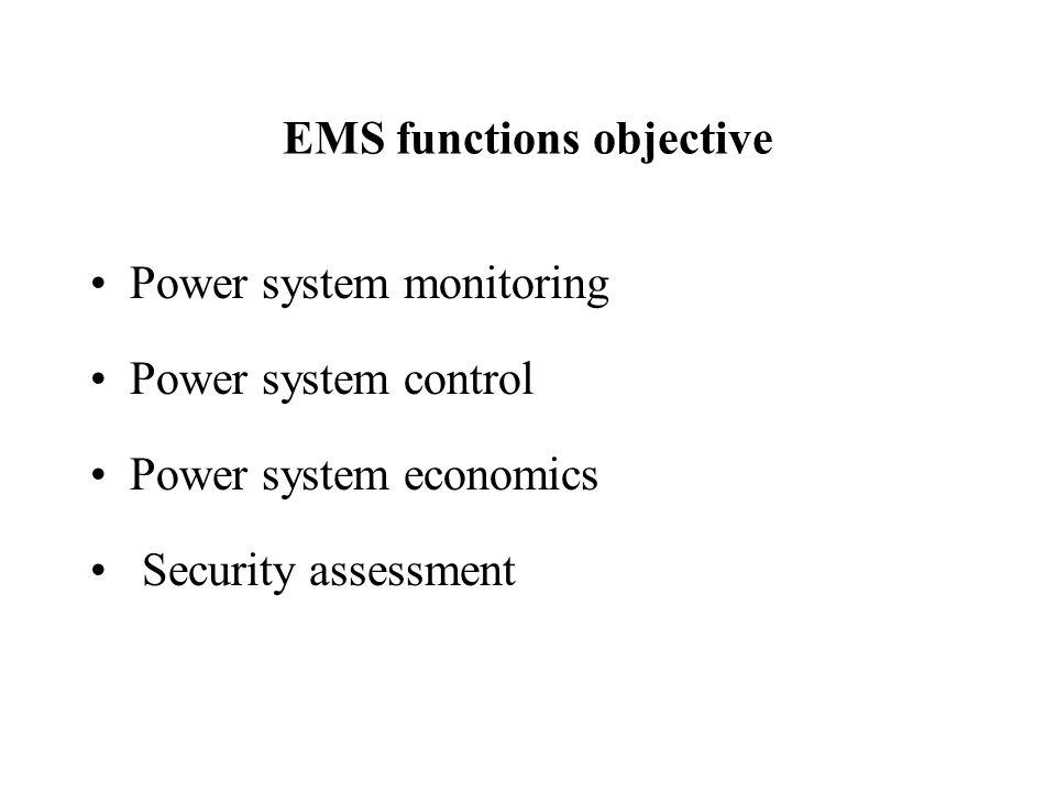 EMS functions objective