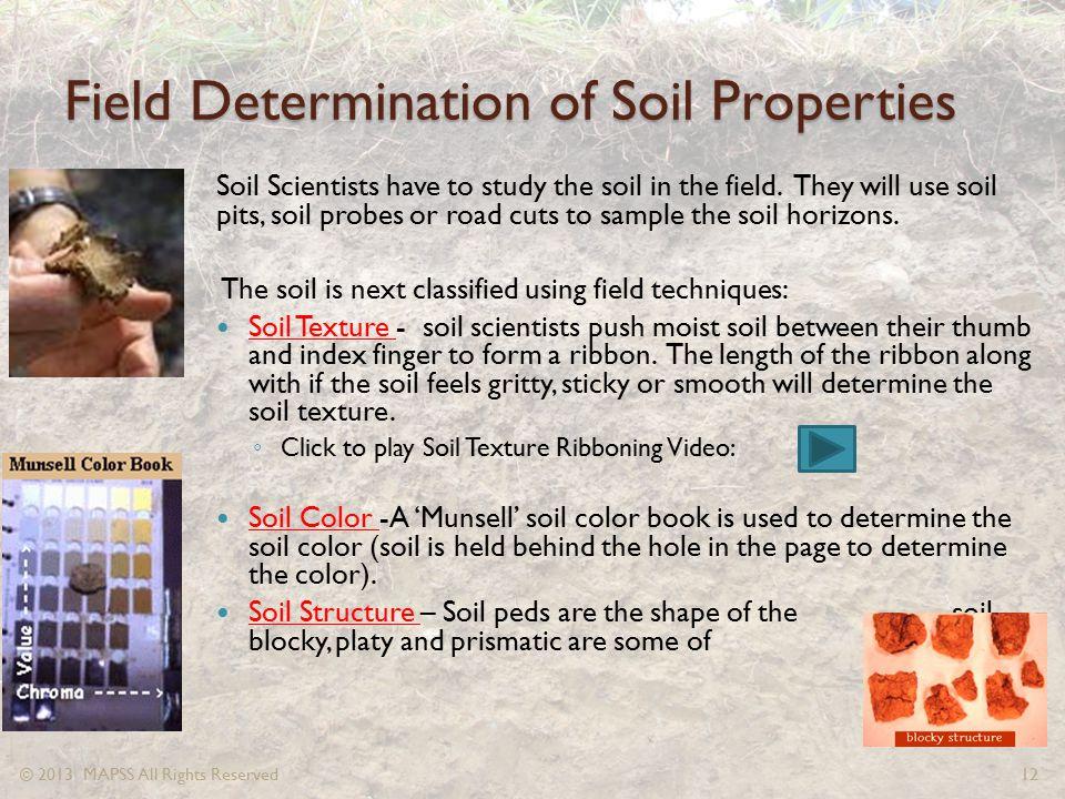 Field Determination of Soil Properties