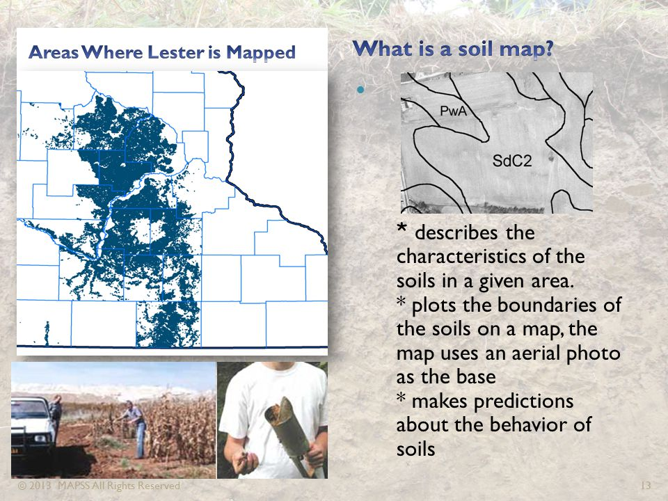 * describes the characteristics of the soils in a given area.