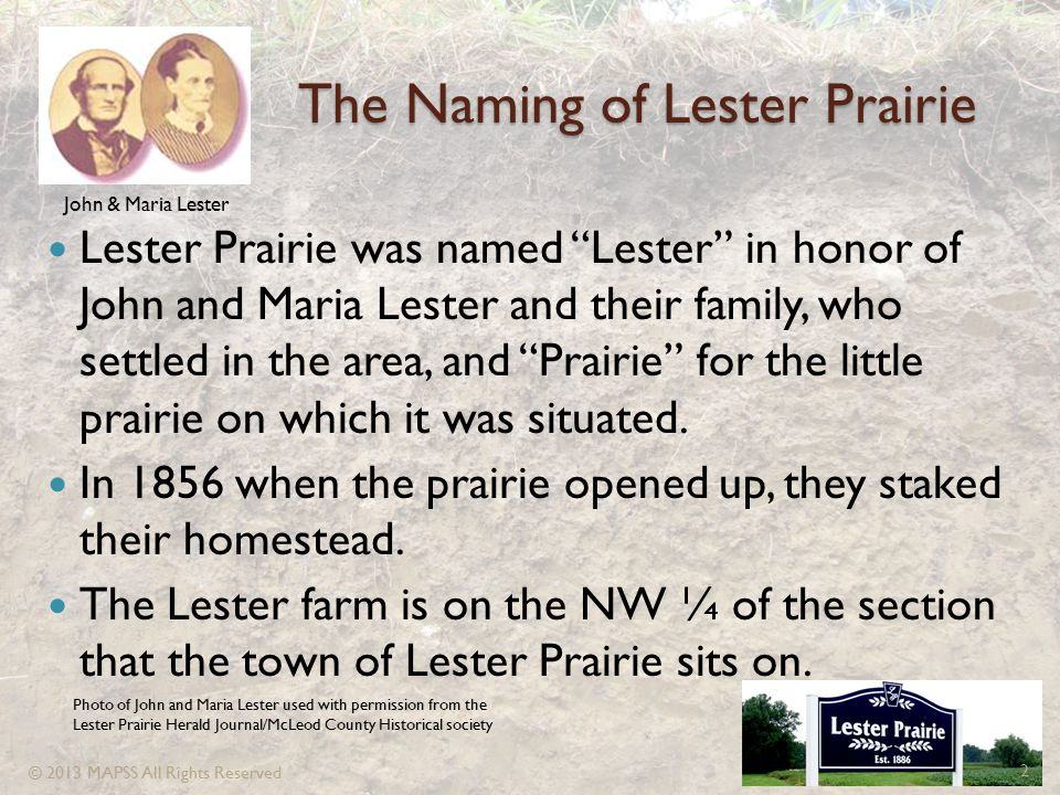 The Naming of Lester Prairie