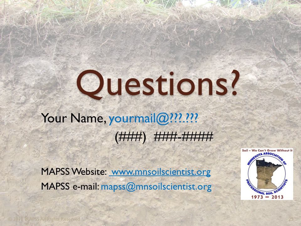Questions Your Name, yourmail@ . (###) ###-####