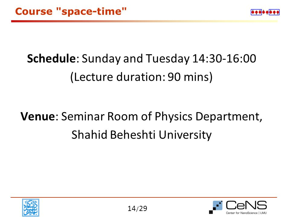 Course space-time