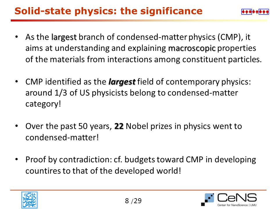 Solid-state physics: the significance
