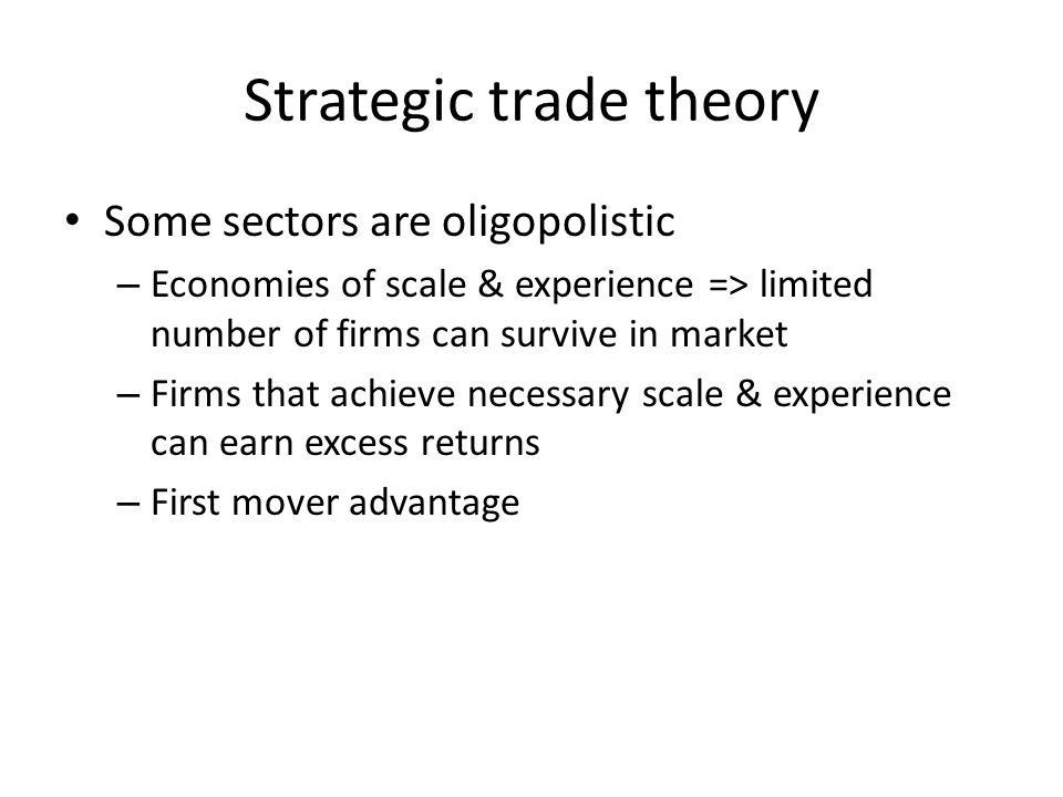 Strategic trade theory