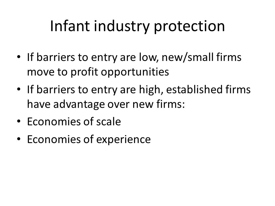 Infant industry protection