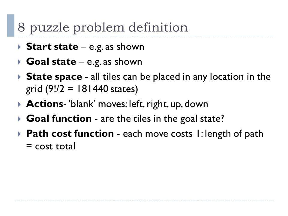 8 puzzle problem definition