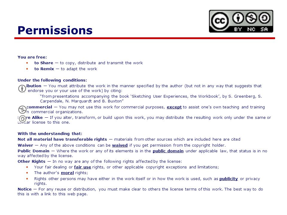Permissions You are free: