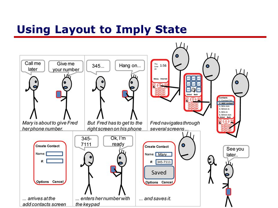 Using Layout to Imply State