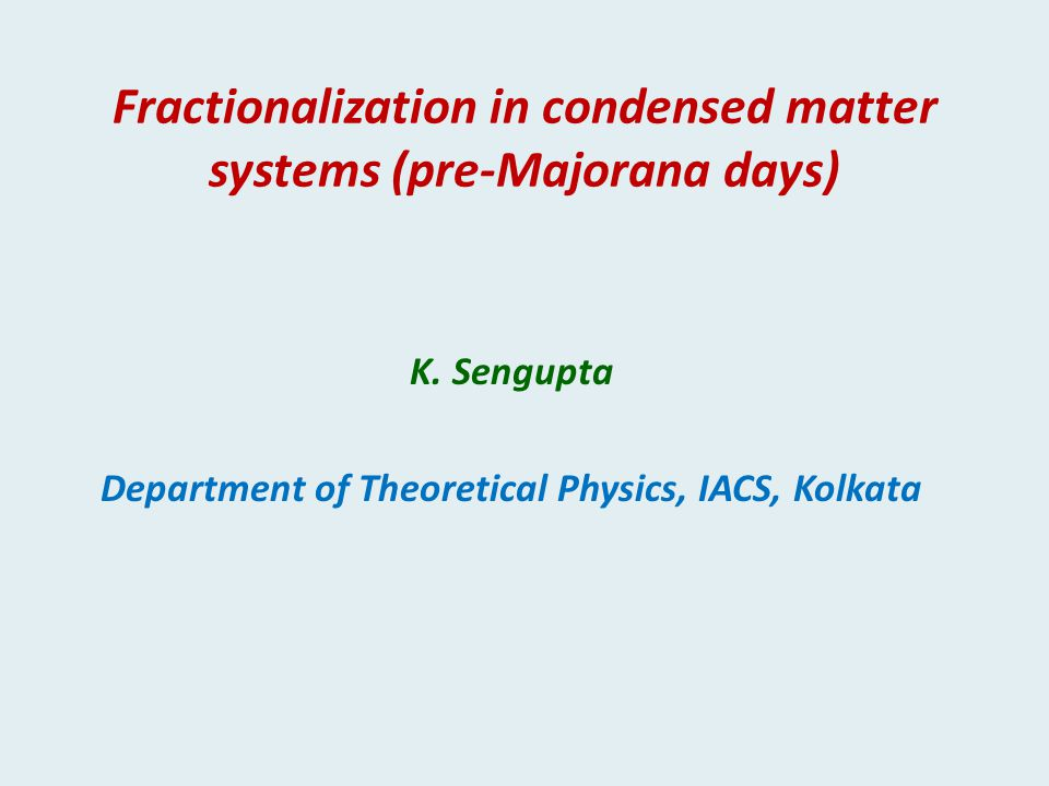 Fractionalization in condensed matter systems (pre-Majorana days)