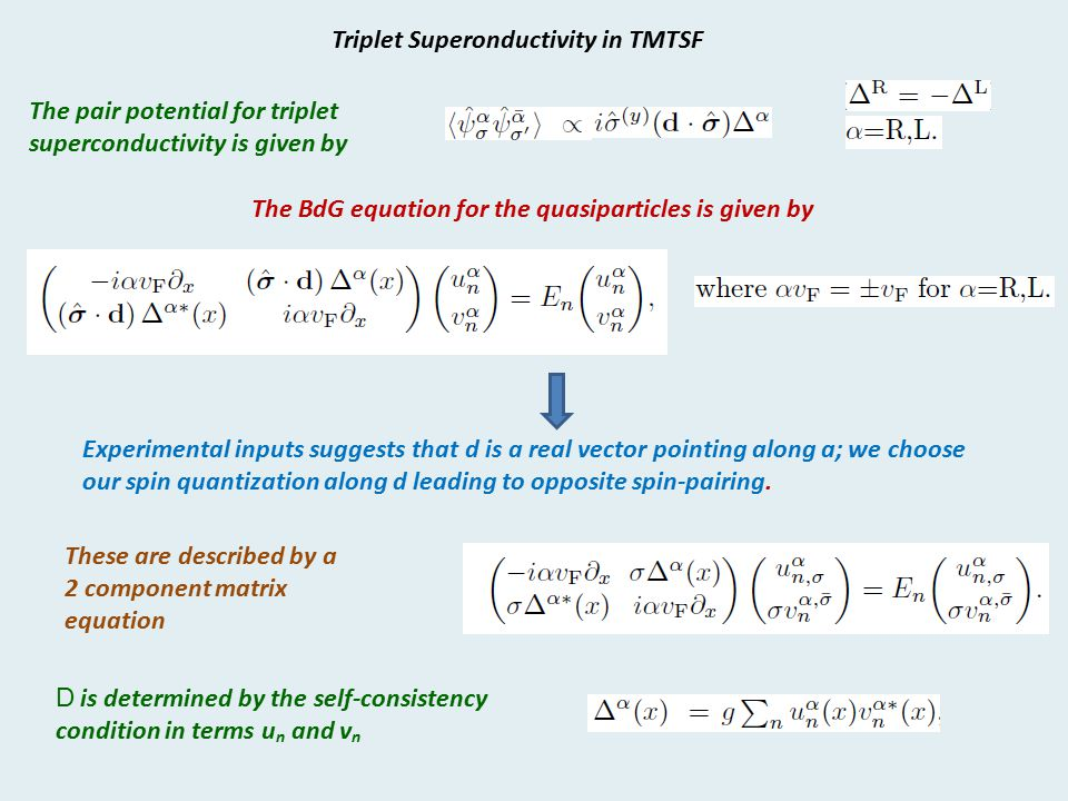 Triplet Superonductivity in TMTSF