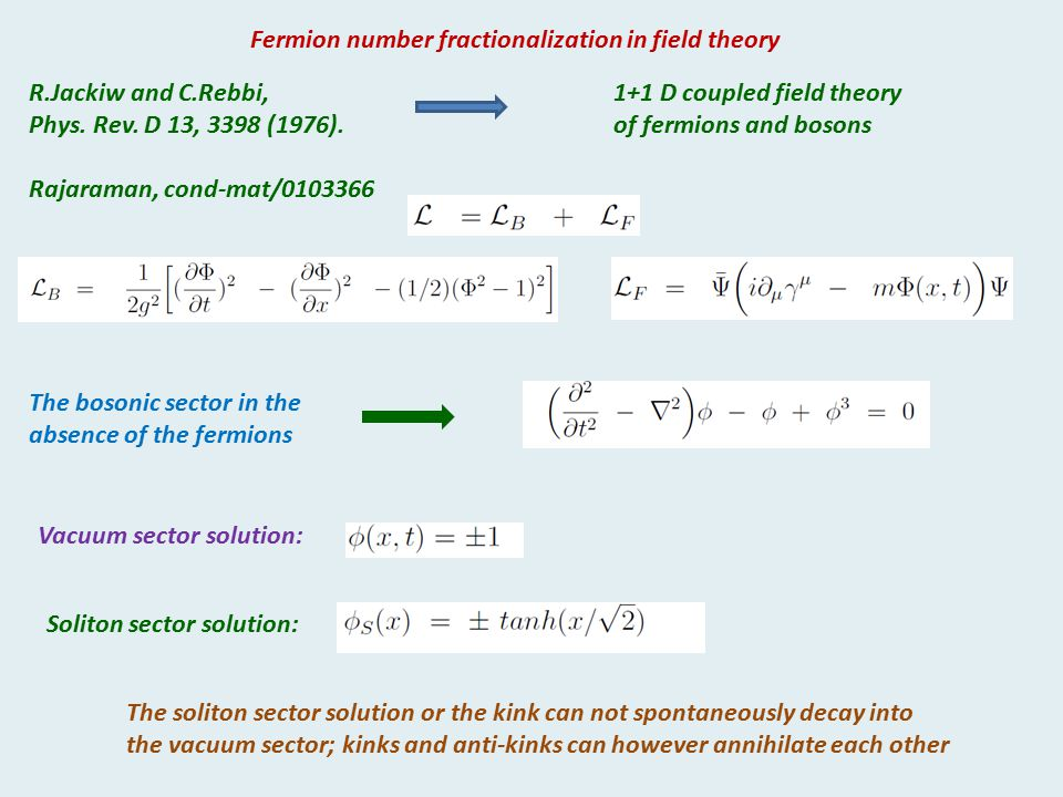 Fermion number fractionalization in field theory