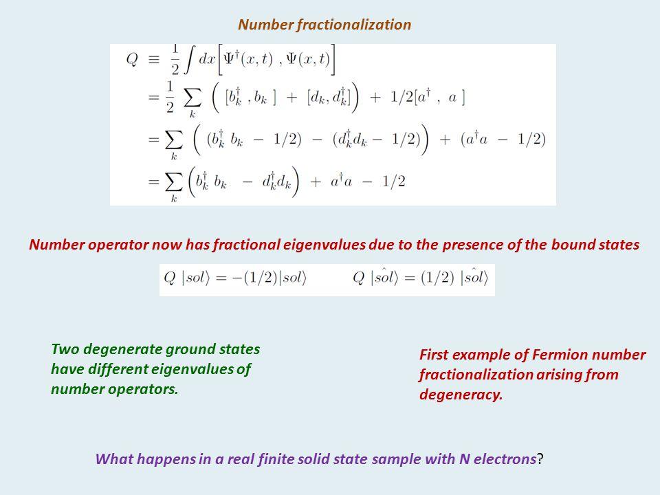 Number fractionalization