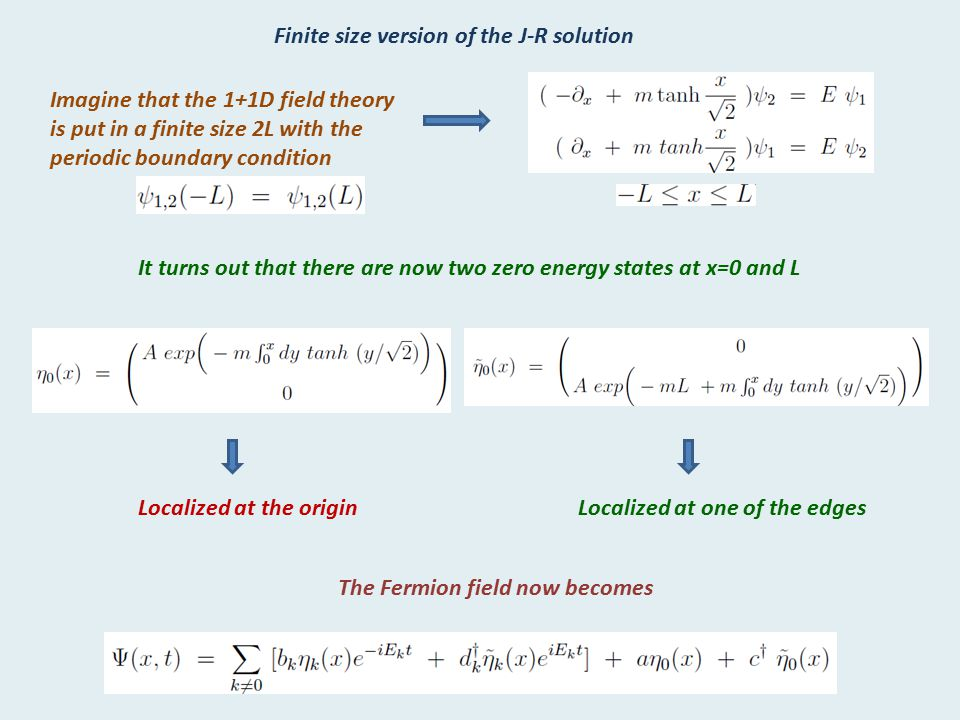 Finite size version of the J-R solution