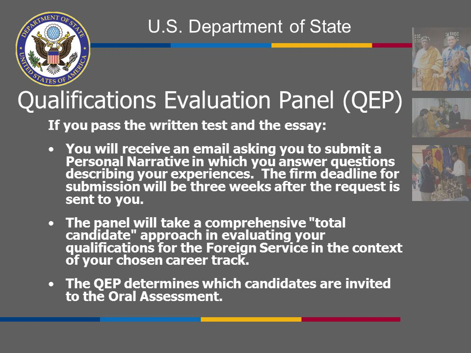 Qualifications Evaluation Panel (QEP)