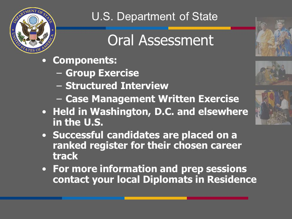 Oral Assessment Components: Group Exercise Structured Interview