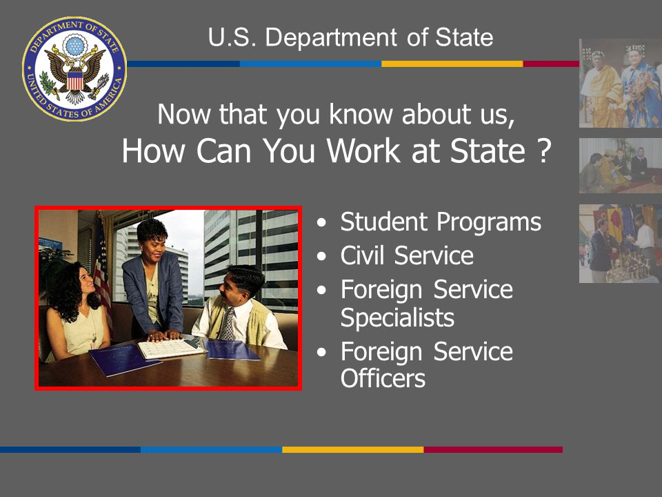 How Can You Work at State