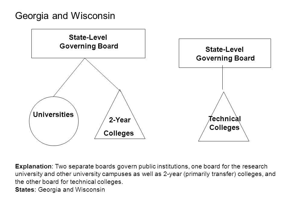 Georgia and Wisconsin State-Level Governing Board State-Level