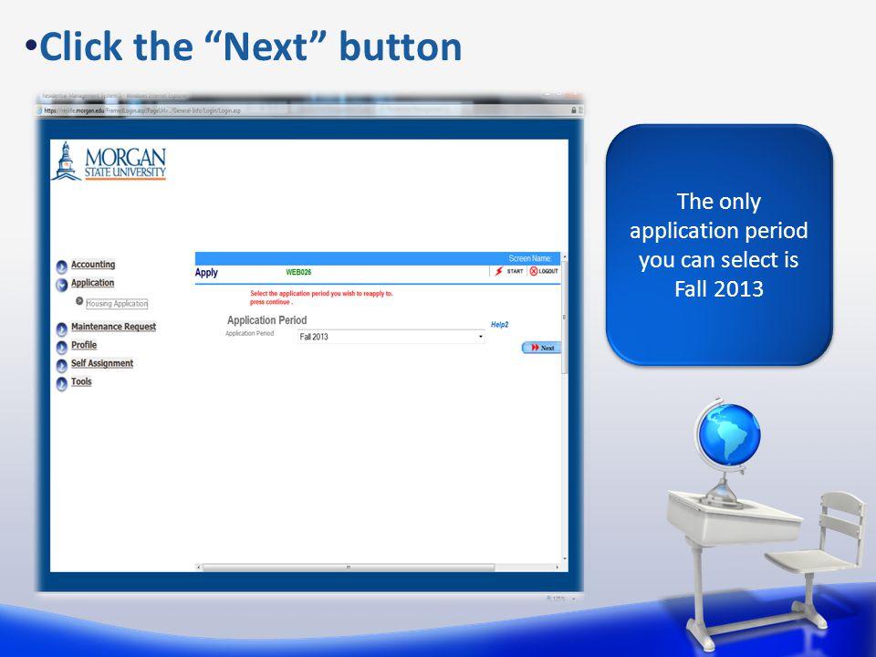 Click the Next button