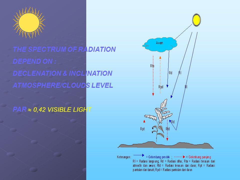 THE SPECTRUM OF RADIATION
