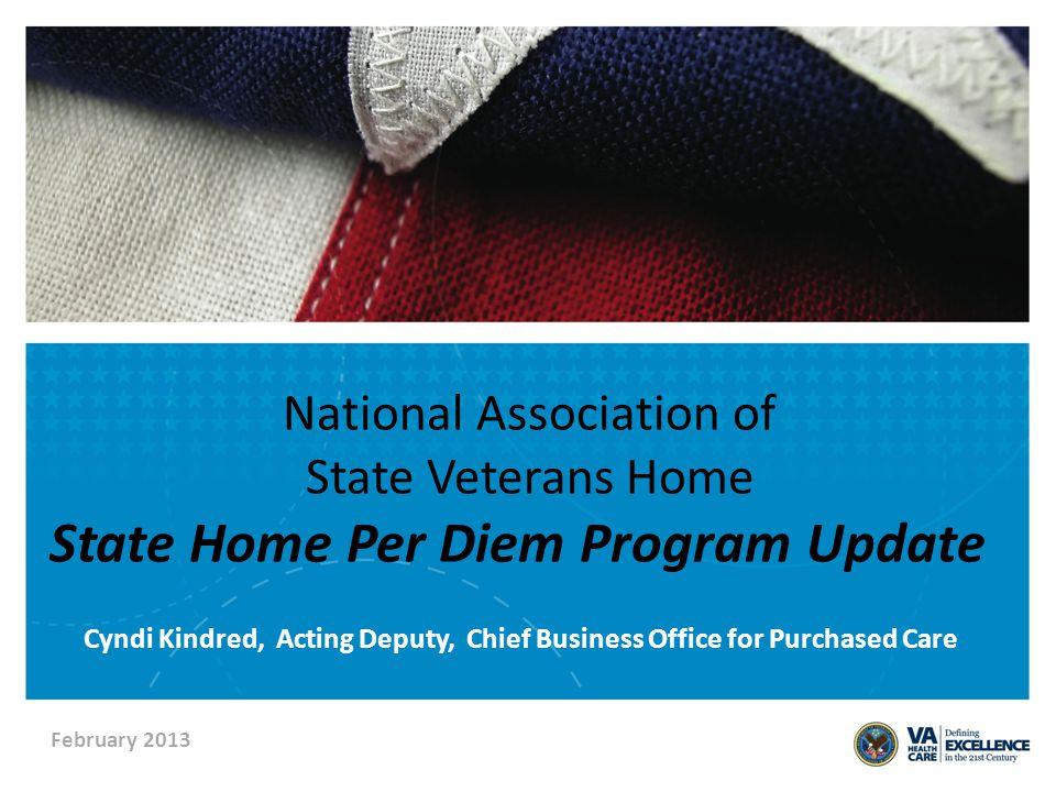 Agenda State Home Per Diem Program Overview