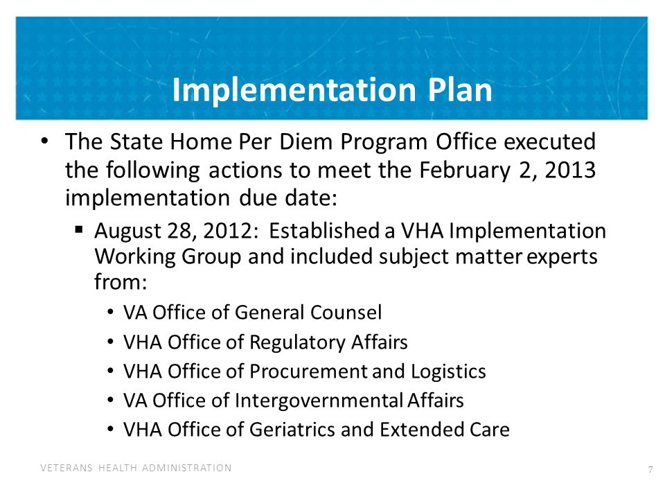 VA Consults with State Homes
