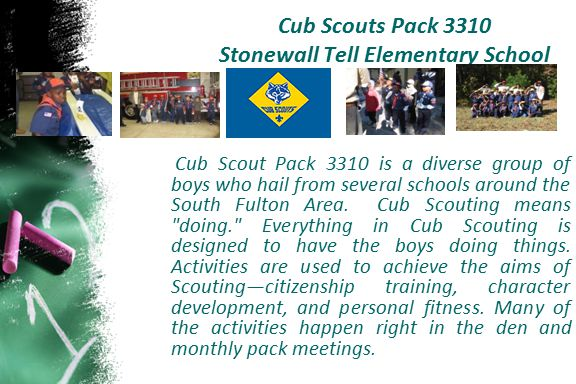 Cub Scouts Pack 3310 Stonewall Tell Elementary School