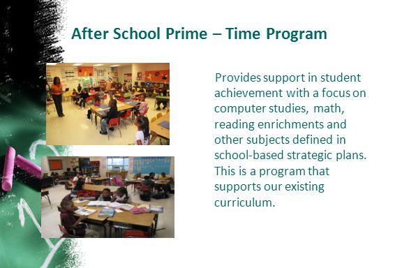 After School Prime – Time Program